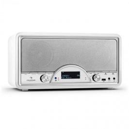 Auna Virgina BK, DAB/DAB + digitální rádio, bluetooth, USB, FM, AUX, MP3, bílé