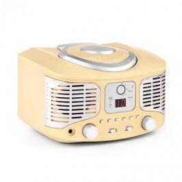 Auna RCD320, retro CD přehrávač, FM, AUX, krémový