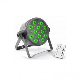 Beamz FlatPAR, 12 x 3 W, tři color LED, DMX IR, včetně dálkového ovládání