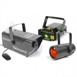 Beamz Light Package 3, set disko světelných efektů, laser, mlhovač