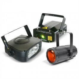 Beamz Light Package 4, set disko světelných efektů, laser, stroboskop