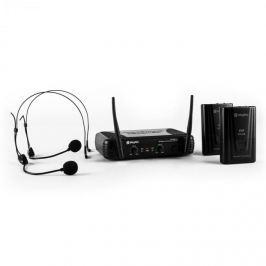 Skytec STWM712H, mikro VHF set bezdrátových mikrofonů, 2 x headset/náhlavní souprava