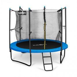 Klarfit Rocketboy 250, 250cm trampolína, vnitřní bezpečnostní síť, široký žebřík, modrá