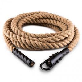 CAPITAL SPORTS Klarfit Power Rope, 12 m / 3,8 cm, kyvadlové lano s hákem, stropní připevnění