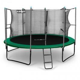 Klarfit Rocketstart 366, 366cm trampolína, vnitřní bezpečnostní síť, široký žebřík, zelená