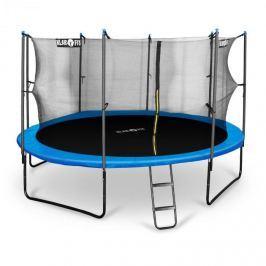 Klarfit Rocketboy 430, 430cm trampolína, vnitřní bezpečnostní síť, široký žebřík, modrá