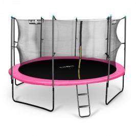 Klarfit Rocketgirl 430, 430cm trampolína, vnitřní bezpečnostní síť, široký žebřík, růžová
