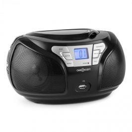 Oneconcept GROOVE BK, černý, boom box s bluetooth CD FM AUX MP3