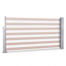 Blumfeldt Bari 316, krémově/bílá, 300x160 cm, boční markýza, boční roleta, hliník