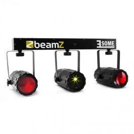 Beamz 3-Some, trojice RGBW LED světel, multibodový laser mikrofon
