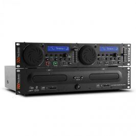 Power Dynamics Power Dynamic PDX115, duální DJ CD Player Controller s SD, USB, CD, MP3, možnost montáže do racku