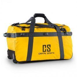 CAPITAL SPORTS Travel L, cestovní taška, batoh, 90 l, vozík, nepromokavý, žlutý