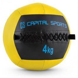 CAPITAL SPORTS Wallba 4, žlutý, 4 kg, wall ball, syntetická kůže