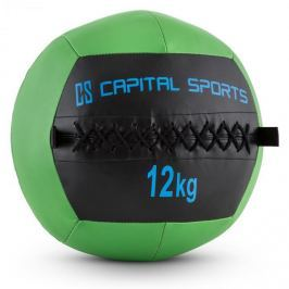 CAPITAL SPORTS Wallba 12, zelený, 12 kg, wall ball, syntetická kůže