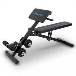 CAPITAL SPORTS Sit'n Curl, Sit Up lavička se sadou činek