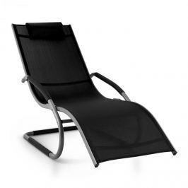 Blumfeldt Sunwave, černé zahradní houpací lehátko, relax, hliník