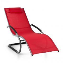 Blumfeldt Sunwave, červené zahradní houpací lehátko, relax, hliník