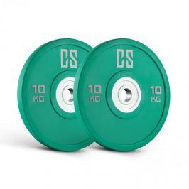 CAPITAL SPORTS Performan Urethane Plates, zelené, 10 kg, pár kotoučových závaží