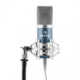 Auna MIC-900BL, modrý kondenzátorový mikrofon, kardioidní, studiový, USB
