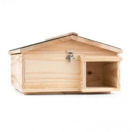Oneconcept Stachelburg, domeček pro ježka, masivní dřevo, krmítko