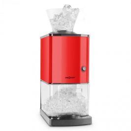 Oneconcept Icebreaker, červený, drtič ledu s výkonem 15 kg/h, objemem 3,5 l, zásobníkem na led, nerezová ocel