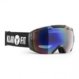 Klarfit Snow View, černé lyžařské brýle, vrstva, poloviční rám