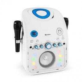 Auna StarMaker, karaoke systém, CD, bluetooth, AUX, LED světelný efekt, 2 x mikrofon
