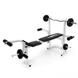 Klarfit Workout Hero, posilovací lavice, odkládací stojan, opěrka rukou a nohou