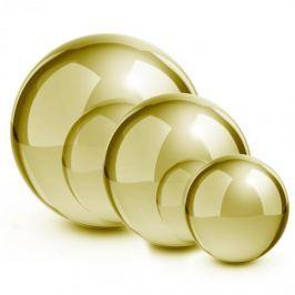 Blumfeldt Golden Globes, zlatá, ušlechtilá ocel, zahradní koule, dekorační koule, sada 3 ks, 13/20/28 cm