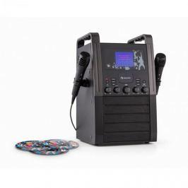Auna KA8B-V2 BK, černý, karaoke systém, CD přehrávač, 2x mikrofon, včetně 3x karaoke CD