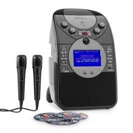 Auna ScreenStar, karaoke systém, kamera, CD, USB, SD, MP3, včetně 2 mikrofonů, 3 x CD + G