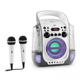 Auna Kara Liquida, karaoke systém, CD, USB, MP3, fontána, LED, 2 x mikrofon, přenosný