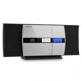 Oneconcept Auna V-15-BT, černý, stereo systém, bluetooth, CD, USB, MP3, FM, AUX, budík