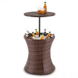 Blumfeldt Beerboy, dvoubarevný hnědý, zahradní stůl, chladič nápojů,50cm, polyratan