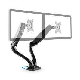 Auna LDT09-C024USB, dvojitý stolní držák na monitor, LED, LCD, 2x USB, včetně montážní sady