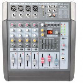 Skytec STL6A, aktivní 6kanálový mixážní pult, 600 W, zesilovač, USB, SD, MP3, EQ, FX, +48 V