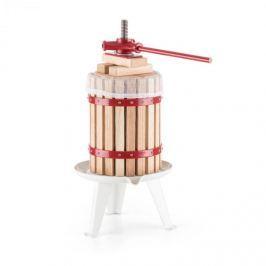 Oneconcept Berrymore L, lis na ovoce, lis na vytlačování šťávy, 6 l, mechanický, ráčnový mechanismus, ocel, dřevo