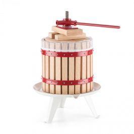 Oneconcept Berrymore XL, lis na ovoce, lis na vytlačování šťávy, 12 l, mechanický, ráčnový mechanismus, ocel, dřevo