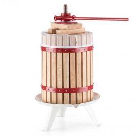 Oneconcept Berrymore XXL, lis na ovoce, lis na vytlačování šťávy, 18 l, mechanický, ráčnový mechanismus, ocel, dřevo