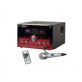 Audiola AHB-2290K, červený, 2.1 audio systém, USB, SD, AUX, MIC, včetně mikrofonu