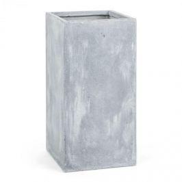 Blumfeldt Solidflor, světle šedý, květináč, nádoba na květiny, 40x80x40 cm, fiberton