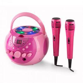 Auna SingSing, přenosný karaoke systém, LED, provoz na baterie, 2 x mikrofon