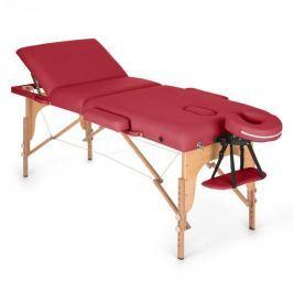 Klarfit MT 500, červený, masážní stůl, 210 cm, 200 kg, sklápěcí, jemný povrch, taška