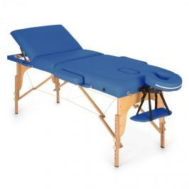 Klarfit MT 500, modrý, masážní stůl, 210 cm, 200 kg, sklápěcí, jemný povrch, taška