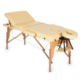 Klarfit MT 500, béžový, masážní stůl, 210 cm, 200 kg, sklápěcí, jemný povrch, taška