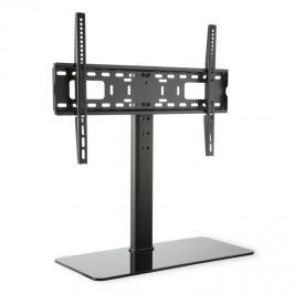 Auna TV stojan, černý, velikost L, výška 76 cm, výškově nastavitelný, 23-55 palců, skleněný stojan