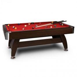 Oneconcept Leeds, červený, 8 '(122 x 79 x 244 cm), kulečníkový stůl, tága, sada