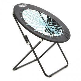 Klarfit Bouncy, černá/modrá, bungee židle, 81 x 41/85 cm