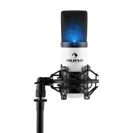 Auna MIC-900-WH LED bílý, USB, kondenzátorový mikrofon, kardioidní, studiové