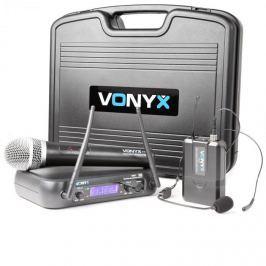 Vonyx WM73C, bezdrátový 2-kanálový UHF vysílací systém